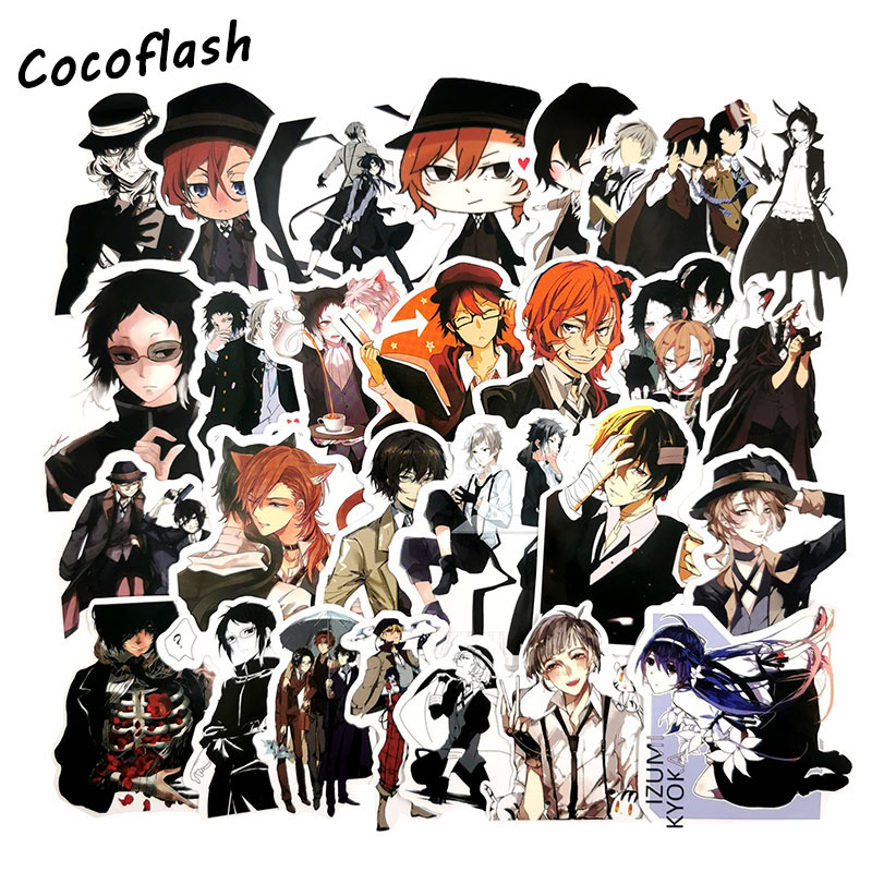 50 Pcs/lot Bungou Stray Dogs Anime Graffiti Stickers For Moto Car & Suitcase Cool Laptop Stickers Skateboard Sticker