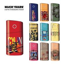 цена на Magic Shark New Stereo Film Stickers For Glo Electronic Cigarette Accessory Protection Cover Sticker For Glo Vape Pod