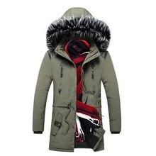 Männer Parkas Jacken Winter Warme Neue Männliche Mit Kapuze Mäntel Outwear Pelz Kragen Dicke Herren Beiläufige Lange Jacke Samt Hohe Qualität