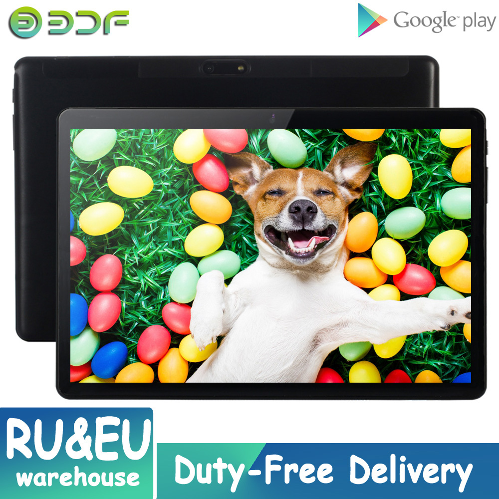 BDF 10 Inch Tablet Android Tablet 7.0 System Quad Core Bluetooth WIFI Dual SIM Card Tablet Pc 32GB ROM Tablets PC Phone Call GPS