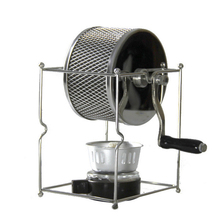 Stainless Steel Coffee Roaster Manual Hand-Operated Rotary Gas Alcohol Stove Bean Baking Maker Espresso Machine цена и фото