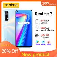 Realme 7 nfc rmx2155 6.5 ffhd + versão global 6gb 64gb smartphone 30w dardo carga 5v/6a helio g95 48mp 5000mah celular