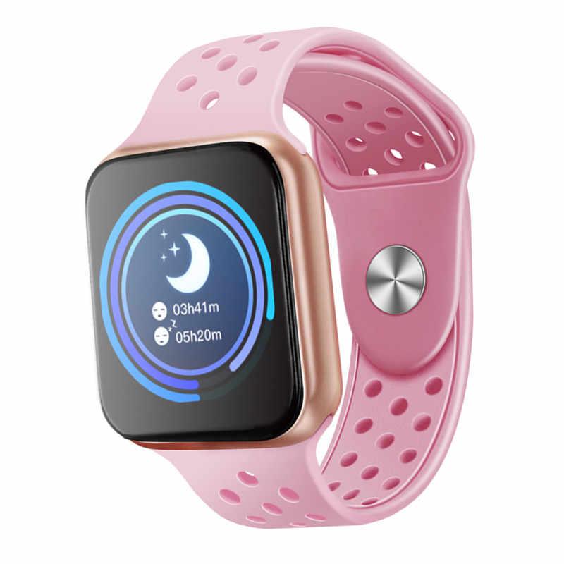 F9 الإناث اللياقة البدنية ساعة ذكية النساء تشغيل مراقب معدل ضربات القلب مقياس مسافة السير بالبلوتوث مسة ذكية ساعة رياضية ل تشغيل