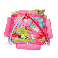 Cushion of the Baby Musical Toy Game Gymnastics Activity with Princess Style of Cartoons and Flower Pattern