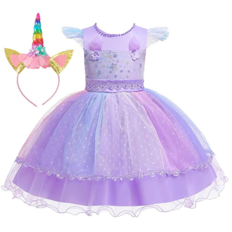 Unicornio Niñas Vestido 2019 Carnaval Pascua Niños Vestidos