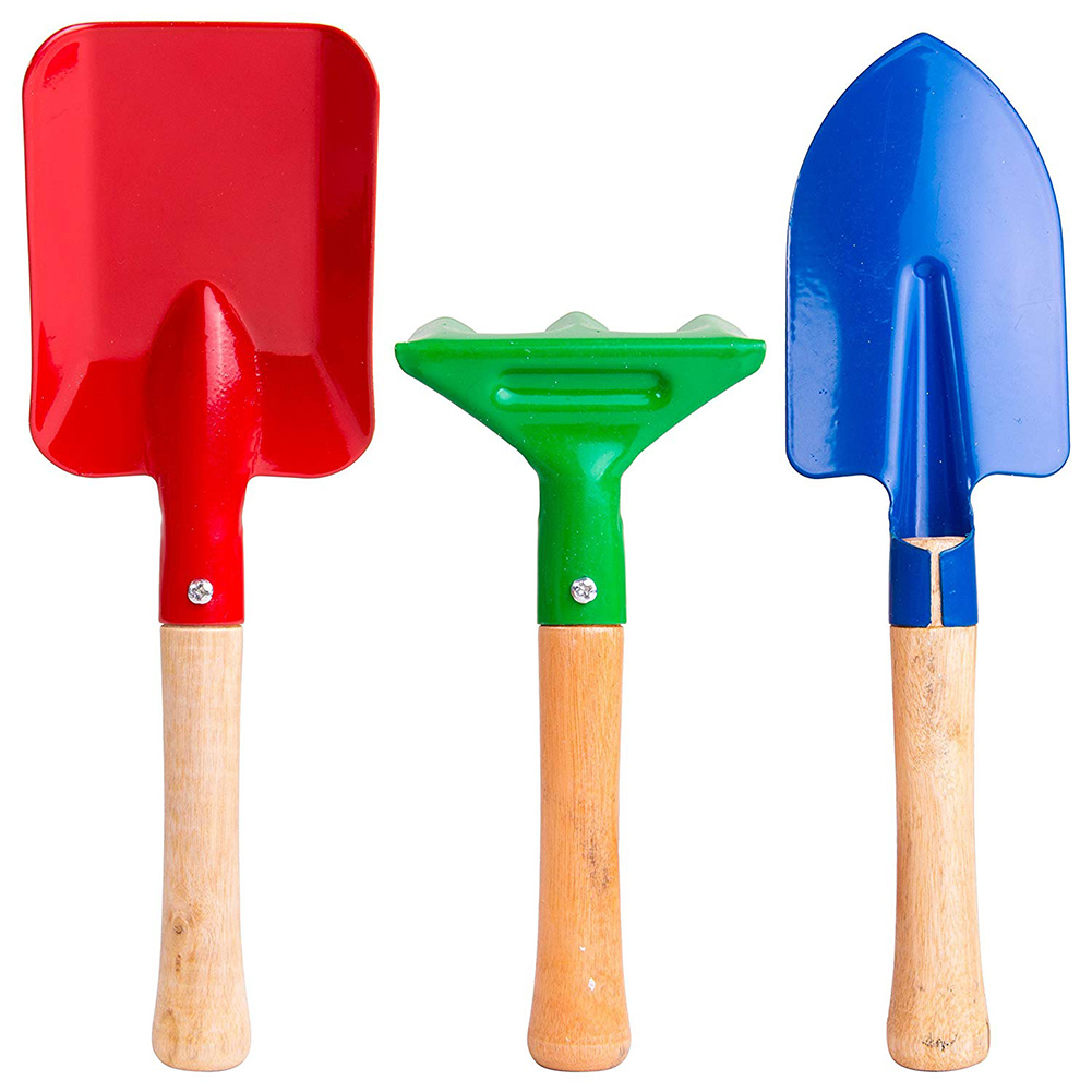 Summer Garden Toys Beach Toys For Children Landscape Sand Shovel Short Handle Wood With Mental