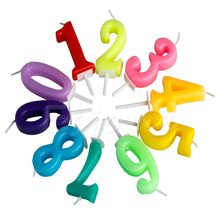 NEW Kids Baby Birthday Anniversary Cake Numbers Age Candle Party Supplies Decoration(China)