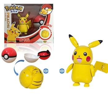 Pokemone Sun Moon Deformation Poke Action Figure Toys Transformation Mewtwo Solgaleo Lunala Model Gift Toys For Childrens 2