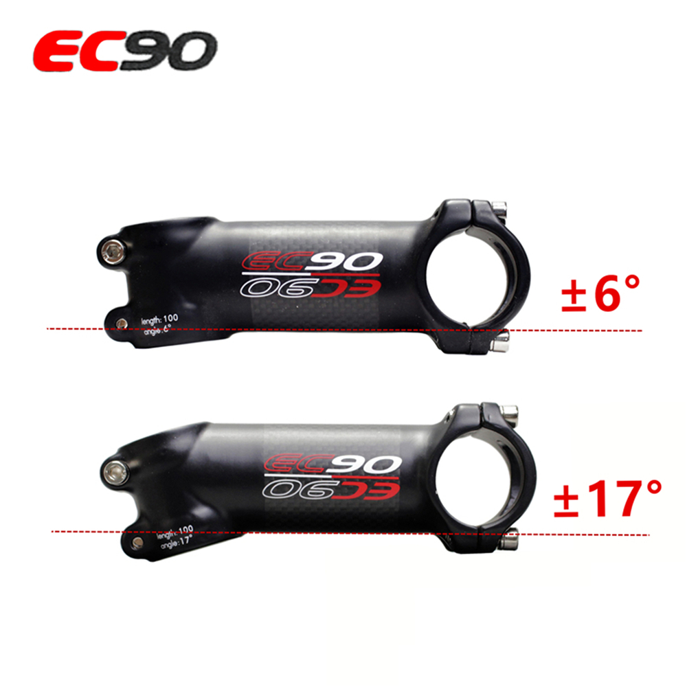 EC90 New aluminum + carbon fiber riser rod Stem carbon fiber Bicycle Stem carbon handle 28.6-31.8MM 6degree 17 degree image