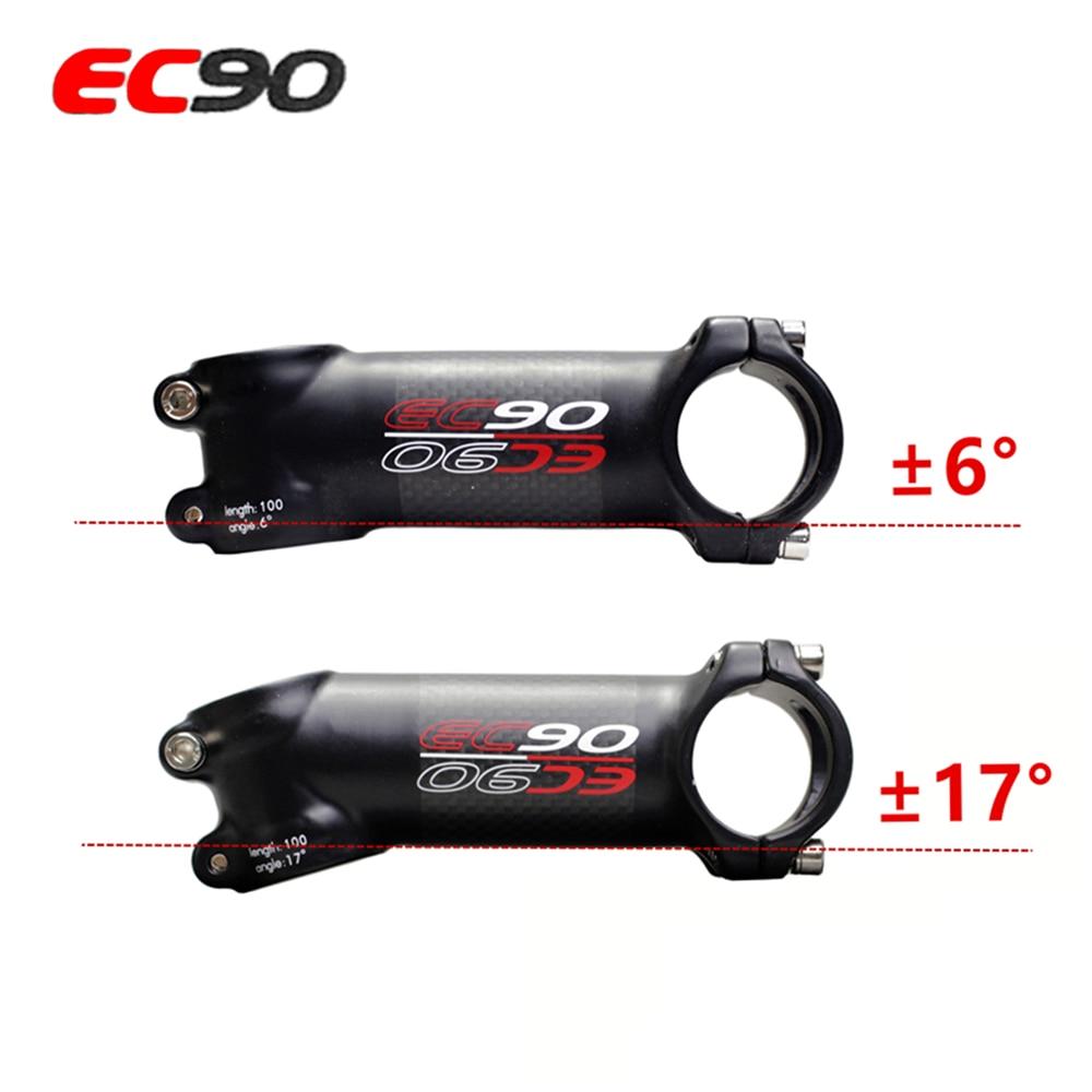 EC90 nuevo aluminio + fibra de carbono riser rod Stem fibra de carbono bicicleta Stem 28,6-31,8 MM 6 grados 17 grados