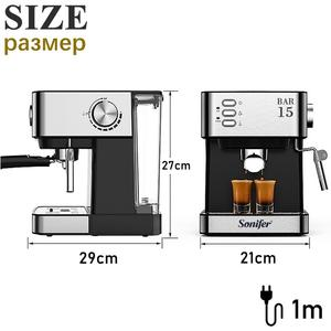 Image 5 - Espresso Electric Coffee Machine Coffee Maker Electric Horn Cappuccino Capuchinator for Kitchen Household Appliances Sonifer