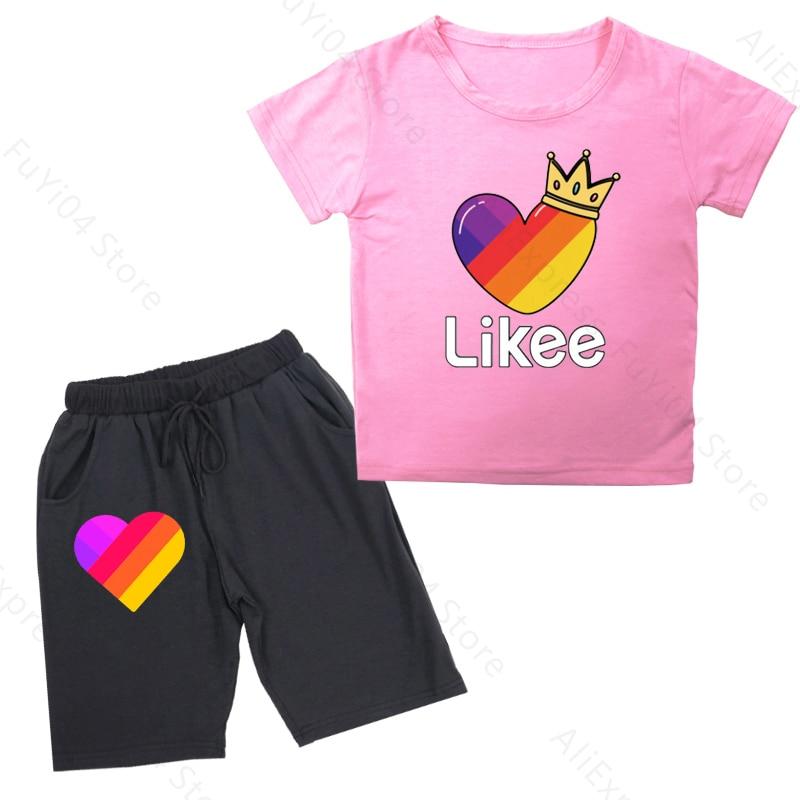 Likee kid t shirt 2pcs set boy clothes baby boys tops kids cute