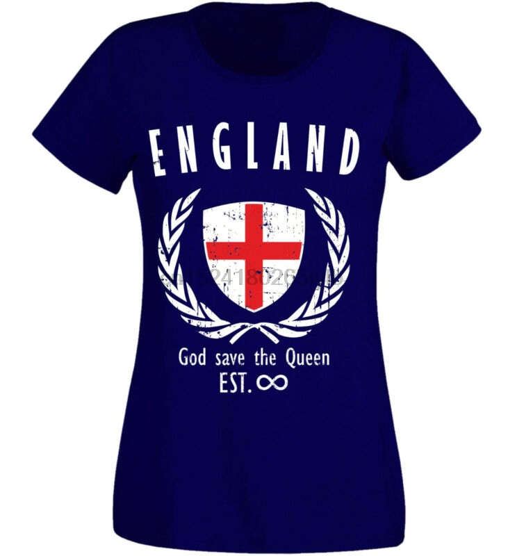 England Damen T-Shirt  NC-Lorbeer navy