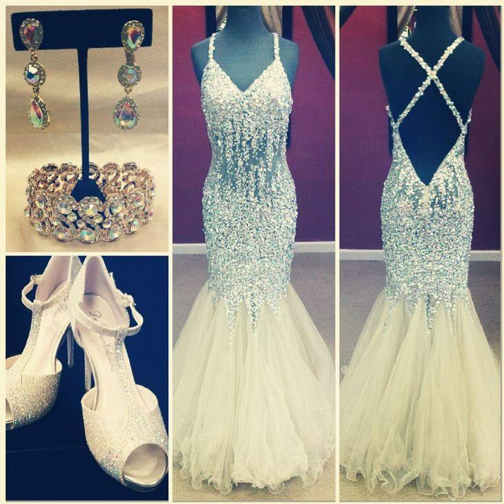 Long Prom 2019 V-Neck Sleeveless Criss Cross Floor Length Tulle Crystal Mermaid Formal Gowns Vestido De Festa Bridesmaid Dresses