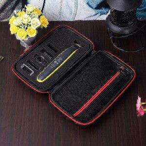 Image 4 - Caso portátil para philips oneblade trimmer barbeador e acessórios eva saco de viagem caixa pacote de armazenamento sem navalha atenção apenas caso
