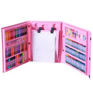 Image 2 - 176PCSดินสอสีศิลปินชุดวาดภาพวาดGraffitiแปรงCrayon Markerปากกาของขวัญเด็กDaliy Entertainment Toy Artชุด
