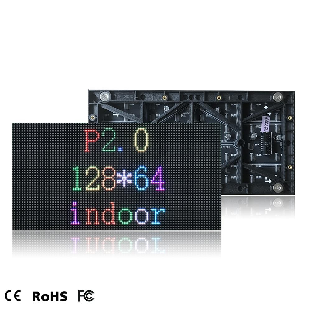 40pcs P2 LED Display Module Indoor 128*64 Pixel P2 LED Panel Full Color 256*128mm