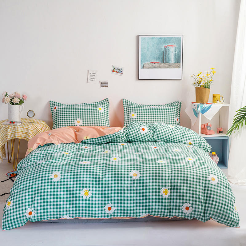 Cartoon Dots Bedding Set Polka Dot Pattern Duvet Cover King Size Comforters for Queen Size Bed Sheet High Quality Bed Linens New