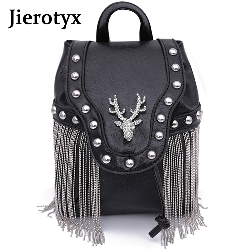 JIEROTYX Fashion Gothic Rock Leather Vintage Retro Steampunk Handbag Shoulder Bag Coin Purse Holder Women Messenger Bag 2020Top-Handle Bags   -