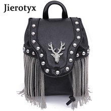 JIEROTYX Fashion Gothic Rock Leather Vintage Retro Steampunk Handbag Shoulder Bag Coin Purse Holder Women Messenger Bag 2020