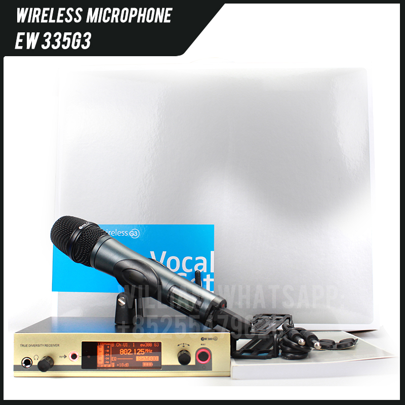 Professional Wireless Microphone EW 300G3 335G3 Cordless Microphone System with E835 Handheld, Lapel or Headset Mic G3