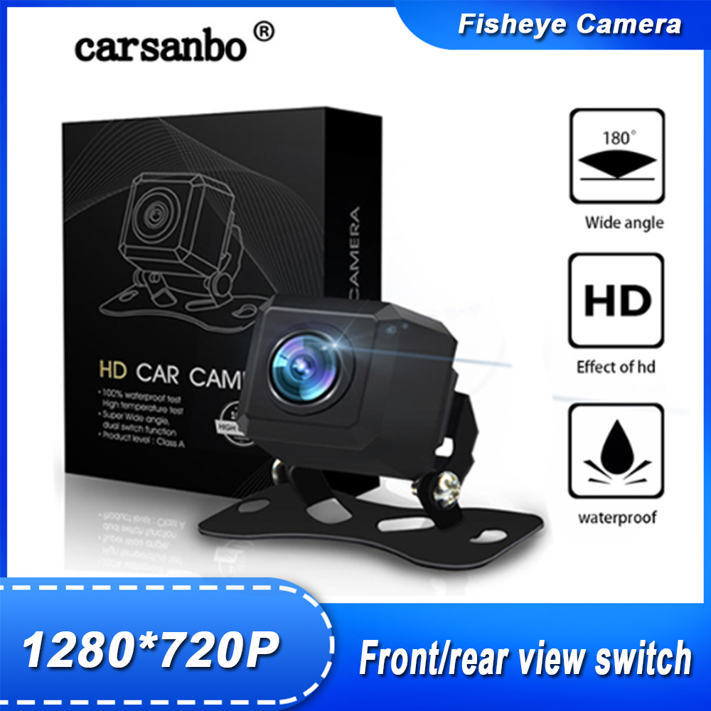 180 Degree Rearview camera 720P HD Reversing Camera Waterproof Car Rear View camera High quality Fish eye Front View Camera