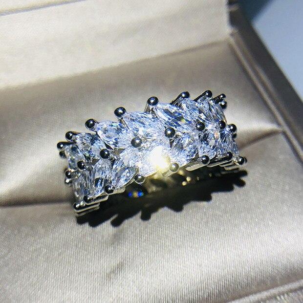 Горячая Распродажа, дизайн, роскошное большое овальное CZ кольцо золотого цвета, обручальное кольцо, хорошее ювелирное изделие для женщин, ювелирных изделий - Цвет основного камня: 28