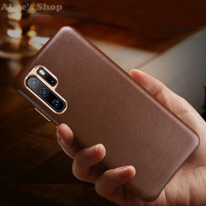Image 3 - Originele Xoomz Case Cover Voor Huawei P30 Pro Luxe Echt Lederen Case Voor Huawei P30/ P20/ Pro Metalen element Back Cover Cases