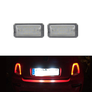 Fits For Fiat 500 / Abarth 500 2007-2016 CANbus Xenon White Led Number License Plate Lights