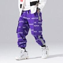 Новое поступление Харадзюку японский стиль с буквенным принтом модные мужские брюки для бега хип-хоп Осенние повседневные мужские шаровары