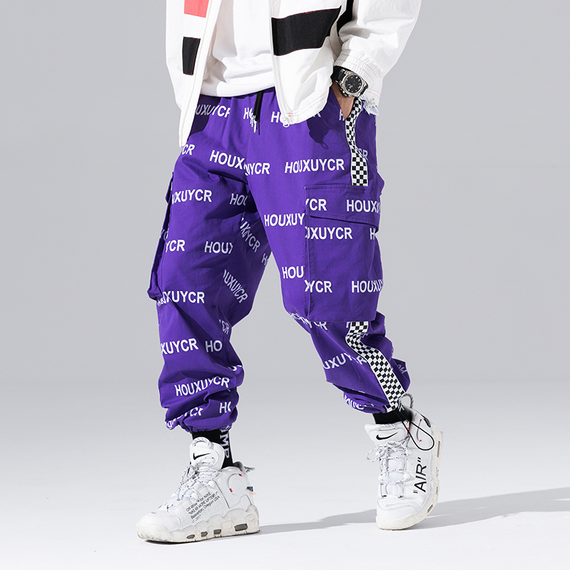 Arrival Harajuku Japanese Style Letter Printed Fashionable Men's Jogger Trousers Hip Hop Autumn Casual Male Harem Pants
