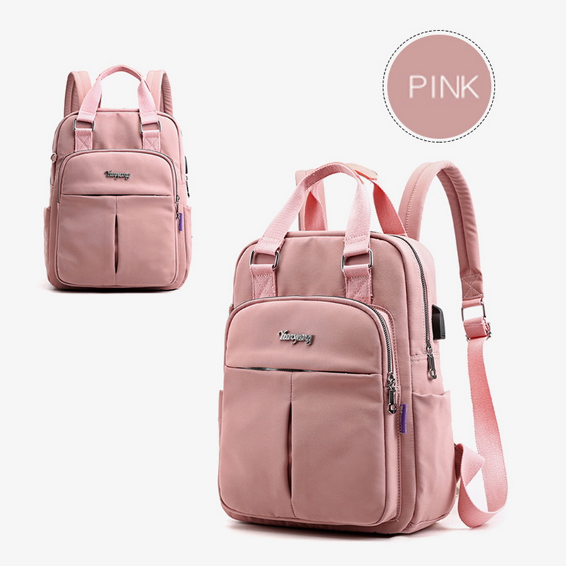 Hfa0e803b39c84f21826f5c01d927187et - New Waterproof Nylon Backpack for Women Multi Pocket Travel Backpacks Female School Bag for Teenage Girls Dropshipping