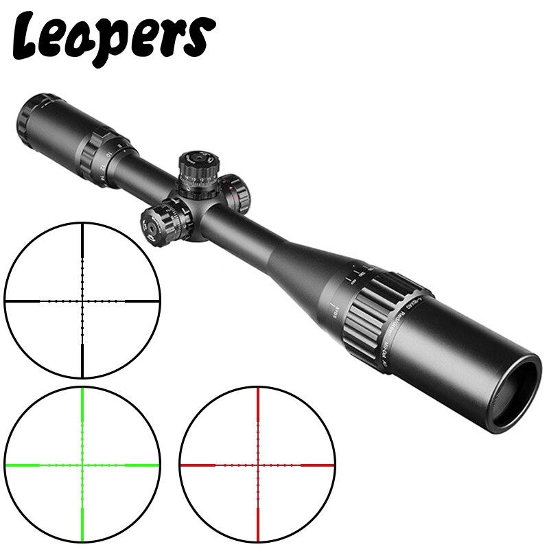 Vista para Riflescope Saltadores Caça Sniper Scope Tactical Optical Rifle Red Green Dot Sight Iluminado Teórico 4-16×40