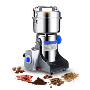 800g 220V Swing Type Grains Herbal Powder Miller Dry Food Grinder Machine High Speed Intelligent Spices Cereals Crusher
