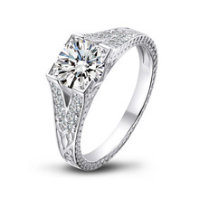 QYI Luxury 925 sterling Silver Women Engagement Jewelry 1.25 ct  Round Cut Simulated diamond Female Wedding Rings