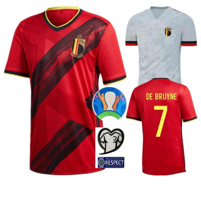 Adult 2020 BelgiumES Jersey HAZARD LUKAKU MERTENS Soccer Shirt Home 20 21 VERMAELEN DE BRUYNE NAINGGOLAN FOOTBALL SHIRTS