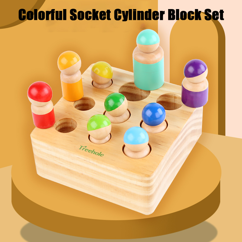 Baby Montessori Educational Wooden Toys Letter Matching game Color recognition