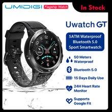 Умные часы UMIDIGI Uwatch GT, 5 АТМ, водонепроницаемые, на весь день, отслеживание пульса, активности, сна, монитор, ультра-длинный Battrey, Android iOS