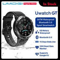 UMIDIGI Uwatch GT montre intelligente 5ATM étanche toute la journée fréquence cardiaque suivi de l'activité moniteur de sommeil Ultra-longue batterie Android iOS