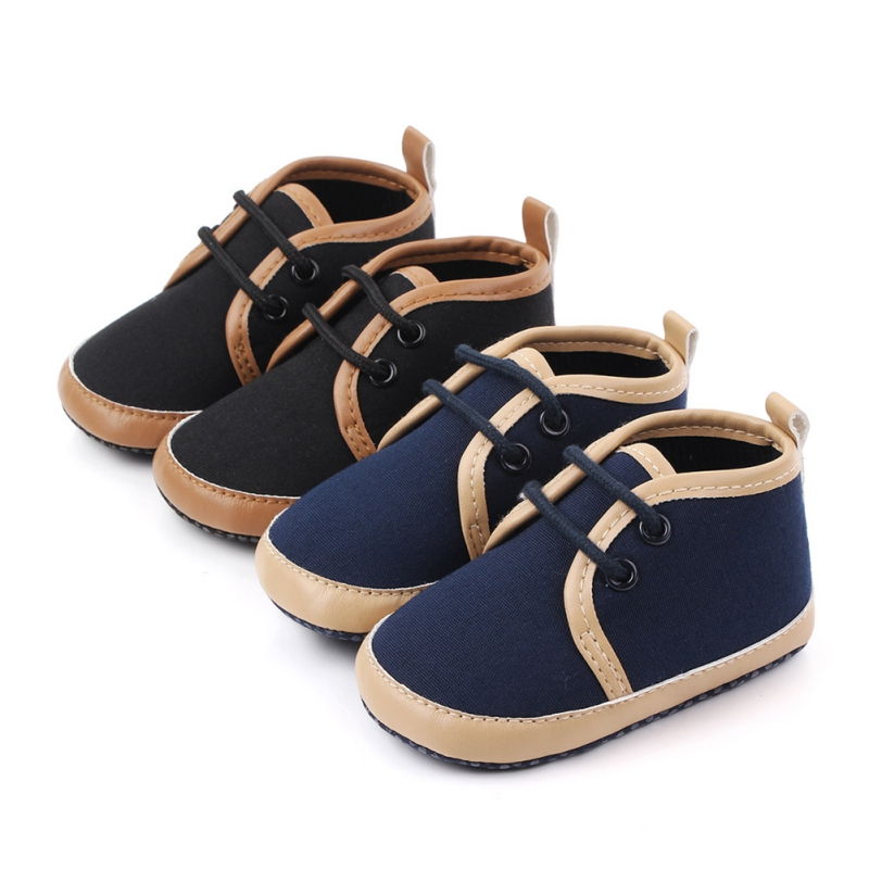 Boy Shoes Newborn 0-18M Autumn Bowknot Design Anti-Slip Toddler Soft Soled Casual Walking Shoe