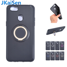 цена на For OPPO A37 Neo9 R11Plus A77 F3 F5 A83 F7 A71 A5 A3S F9Pro Case Car Magnetic Suction Bracket Finger Ring Soft TPU Back Cover