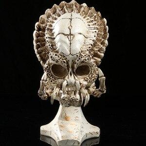 Predator crânio modelo estatueta decoração artesanato acessórios de mobiliário removível crânio escultura