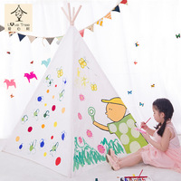 Giving Tree Teepee Tent for Children Indoor Game House Play House Portable Baby Toy House Polyester Cotton
