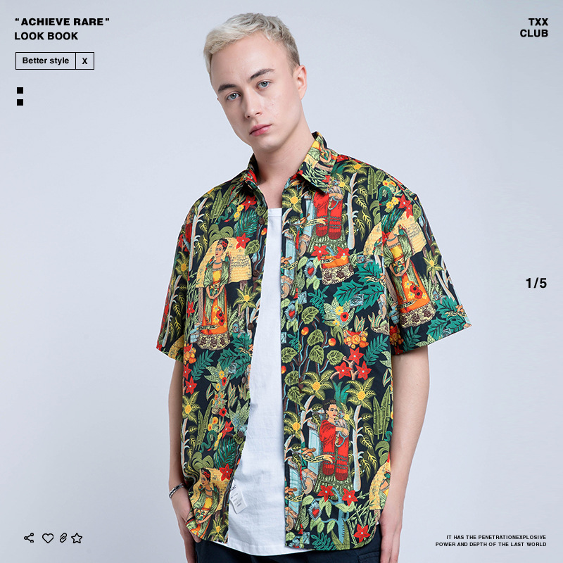 Nagri Origional 2019 Europe And America Popular Brand Spring And Summer New Style Men'S Wear Creative Covered With Printed MEN'S
