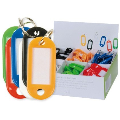 KEY HOLDERS Q-CONNECT EXHIBITOR 100 UNITS COLORS ASSORTED