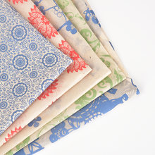 12 шт переводная бумага керамика цветная глазурованная сине