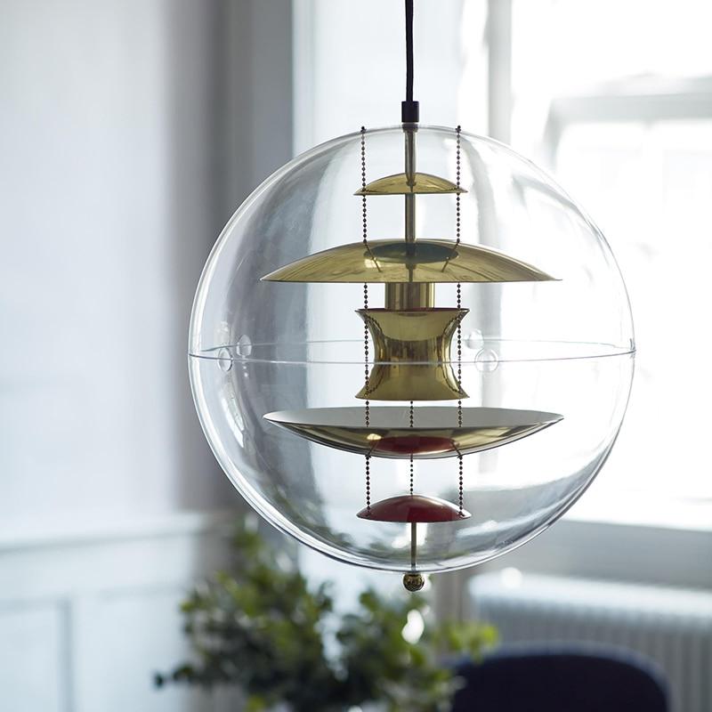 nordic Danish design Planet globe pvc ball pendant lights for hotel villa living room hanging lamp fixtures kitchen luminaire|Pendant Lights| |  - title=