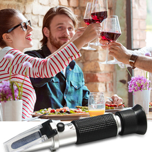 Refractometer Alcohol-Wine Brix-Baume Portable Grape And 3-In-1 Hand-Held W25v/V-Scales
