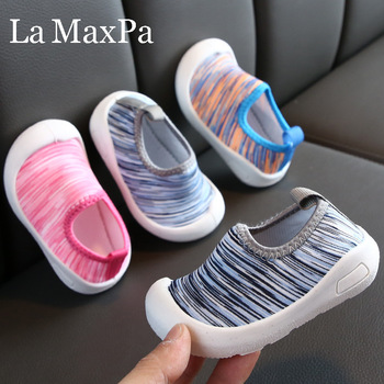 2020 Spring New Fashion Baby First Walkers Children Baby Shoes Soft Sole Skin Touching Shoes Foot Elastic Cloth Boys Girls Shoes image