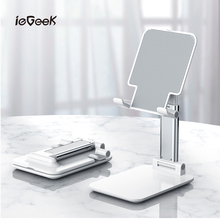 2020 Desk Mobile Phone Holder Stand For iPhone iPad Adjustable Metal Desktop Tablet Universal Table Foldable